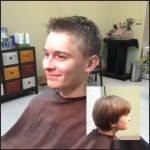 New Holland PA hair salon client with men's short hair cut