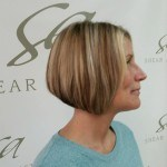 Short hair haircut with hair color on Shear Artistry salon client